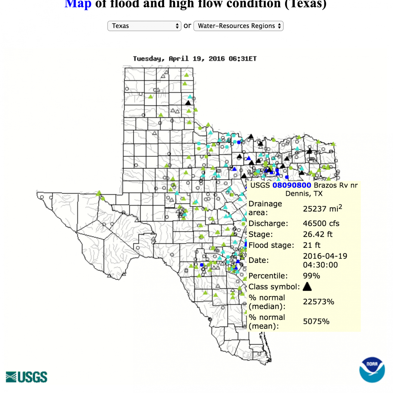 Map Of South East Texas.Brazos River Southeast Texas Flood Data Environmental Issues And